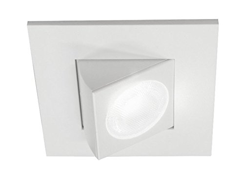 NICOR Lighting 2-Inch Adjustable Square Eyeball 2700K LED Downlight Fixture for 2-Inch Recessed Housings, White (DQR2-AA-10-120-2K-WH) by NICOR Lighting (Image #2)