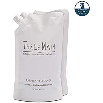 Amazon Com Threemain Bathroom Cleaner Refill Pouch