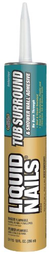 Liquid Nails LN715 10-Ounce Liquid Nails Tub Surround and Shower Walls Adhesive (Tub And Shower Surround compare prices)
