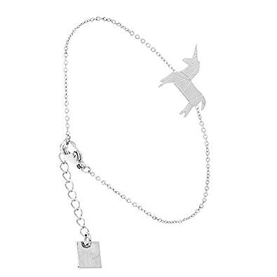 77564788913ff Zag Bijoux Origami Unicorn Bracelet (Silver)  Amazon.co.uk  Jewellery