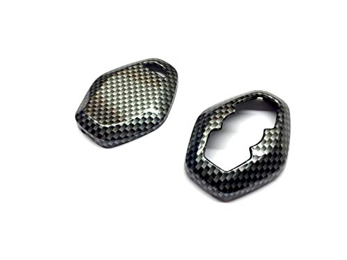 PAKCEEINC Keyless Remote Key Protection case fob Shell Cover for BMW Diamond Remote Key Gloss Carbon Fiber Color