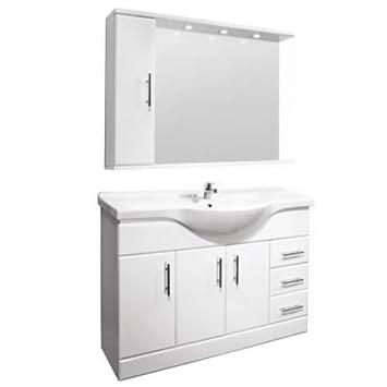 Amazon.de: Badezimmerschrank mit Waschbecken (1200mm) und ...