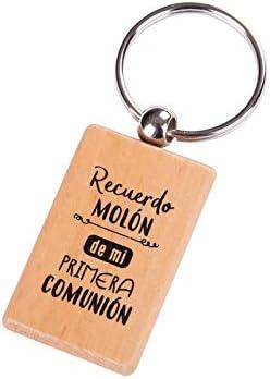 Lote de 10 Llaveros Madera 1ª Comunión con Frase Recuerdo MOLÓN - Llaveros Originales, Detalles, Regalos y Recuerdos de Comuniones