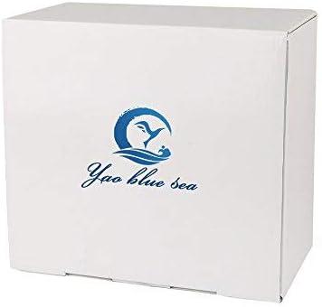 YAOBLUESEA Mini Kit Complet de compresseur a/érographe Airbrush compresseur Professionnel Double Action Airbrush kit 100-240V Blanc