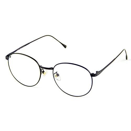 Cyxus Blue Light Blocking Glasses for Anti Eye Strain Headache Computer Use Eyewear, Retro Round Metal Frame - Blue Glasses Light Technology
