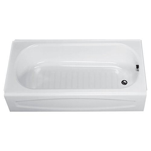 American Standard 0263.112.020 New Solar Soaking Bathtub with Right Hand Outlet, White, 5-Feet