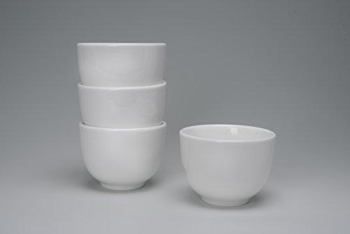 4 x Teecup Set aus Porzellan weiß Teacup / Teeschale / Teetasse