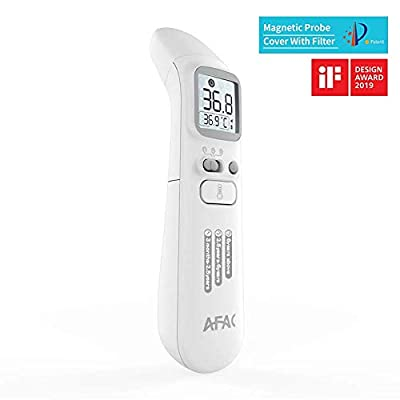 Baby Thermometer Forehead and Ear for Kids Adults Fever with Magnetic Probe Cover, Medical Digital Infrared Temporal Thermometer, 40 Memory Data Recall, Instant Accurate Reading
