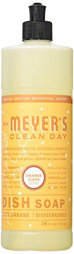 Mrs. Meyer's Clean Day Dish Soap, Orange Clove, 16 Ounce