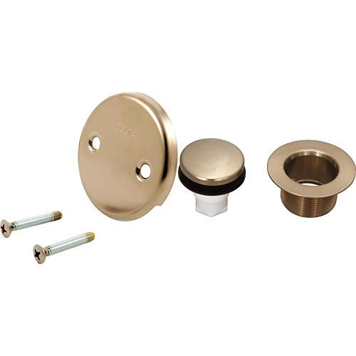 Delta RP31556CZ Overflow Plate and Screws Champagne Bronze Champagne Bronze AND Delta RP31558CZ Tub Drain
