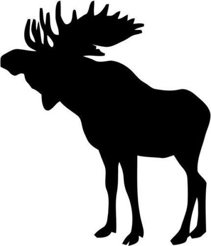 Moose Animal Wildlife Vinyl Graphic Car Truck Windows Decor Decal Sticker - Die cut vinyl decal for windows, cars, trucks, tool boxes, laptops, MacBook - virtually any hard, smooth - Truck Decals Wildlife
