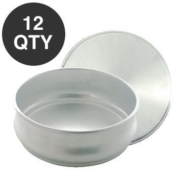 12 STACKABLE PIZZA DOUGH PROOFING PAN 48 OZ - WHOLESALE by overstockedkitchen