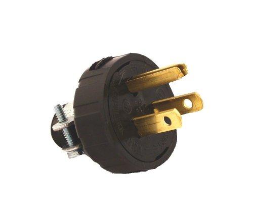 Leviton 48648 15 Amp, 125 Volt, Grounding Plug, (Armored Grounding Plug)