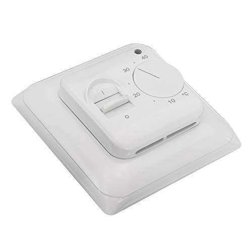 Topker 16A AC 230V Electric Mechanical Underfloor Heating Thermostat Switch Manual Switch Knob + Floor Sensor
