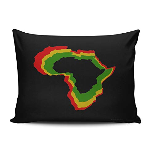 - XIAFA Home Custom Pillowcase Africa Pan African Colors Simple Decorations Sofa Throw Pillow Case Cushion Cover One Sided Printed Design Boudoir 12X18 inches (Set of 1)