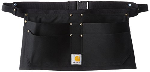 Carhartt Men's 100 Percent Cotton Adjustable Duck Nail Apron,Black,Medium