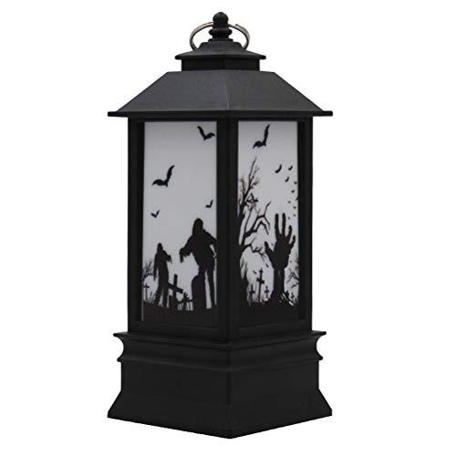 BESTOYARD Halloween Lanterns LED Flickering Flameless Candles Decorative