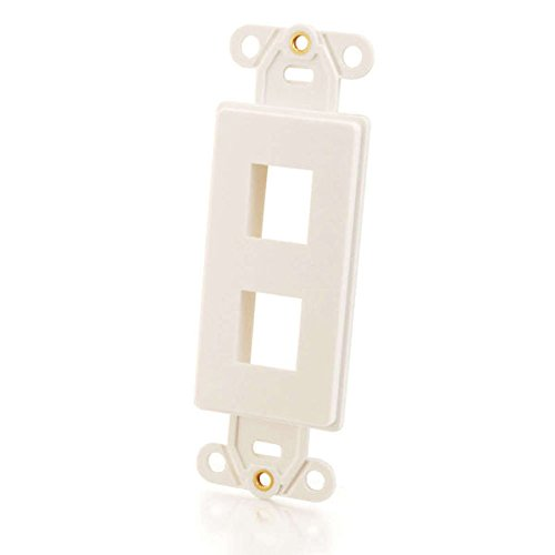 C2G 03721 Two Port Keystone Wall Plate, White