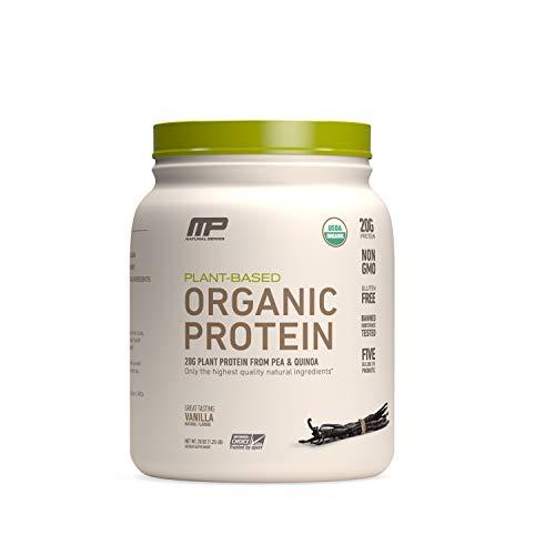 MP Plant Based Protein Powder, Certified USDA Organic, All Natural, Probiotics, Gluten Free, Non GMO, BCAAs, Vanilla, 15 Servings