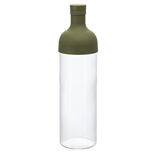 Brew Bottle - Hario Cold Brew Filter-In Tea Bottle, 750ml, Olive Green