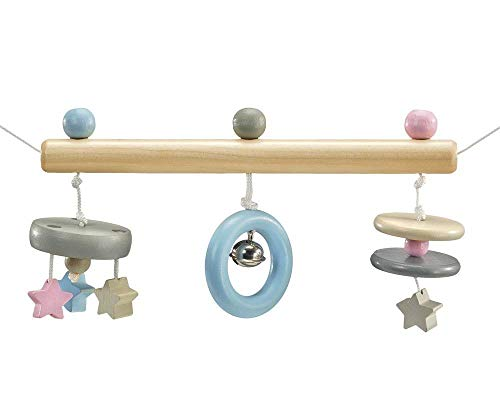 Selecta Pram Chain Wooden Stars 64016, Belly Button, 63 cm, Multi-Colour