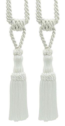 Pair Of Premium White Decorative Chainette Tiebacks, 5