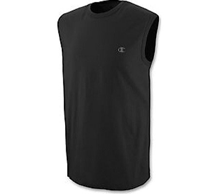 Champion Men's Jersey Muscle (Set of 2) Athletic Apparel,Black,2XL US