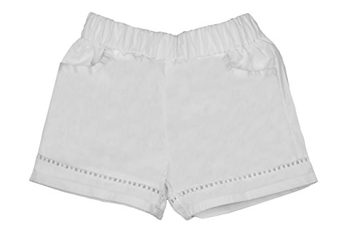 ContiKids Girls' Comfortable Fashion Shorts 7 White by ContiKids