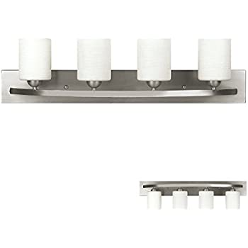 Brushed Nickel 4 Globe Vanity Bath Light Bar Interior Lighting Fixture