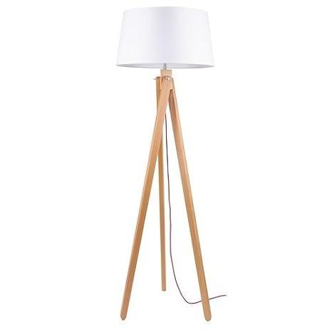 Bauhaus - Lámpara de pie (Color Blanco, altura 155 cm, 3 ...