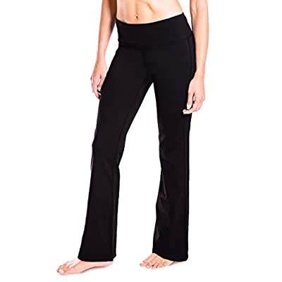 "Amazon.com : Yogipace 27""/28""/29""/30""/31""/32""/33""/35""/37"" Inseam, Petite/Regular/Tall, Women's Bootcut Yoga Pants Long Workout Pants : Sports & Outdoors"