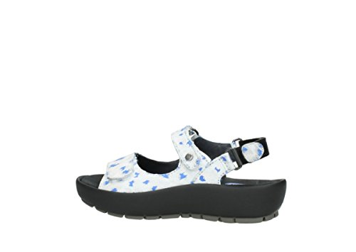 Womens Sandals 92128 Rio Wolky blue Offwhite Leather BZdCxwx