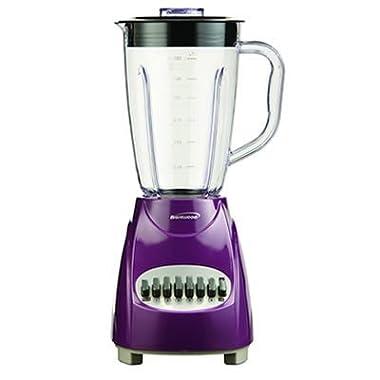 Brentwood Appliances JB-220PR 12-Speed Blender Plastic Jar, Purple