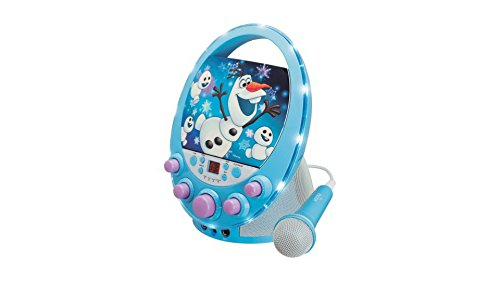 Country Oval Pedestal (Oval Flashing Light Karaoke Features Olaf the snowman Design Microphone included)