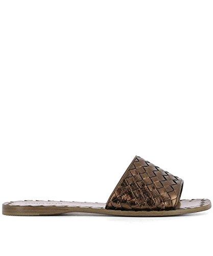 Bottega Veneta Women's 407413Vawr02546 Brown Leather Sandals