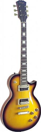 Stagg SEL-ZEB-2TS L Series Zebra 6-String Electric Guitar with Solid Mahogany Body - Sunburst