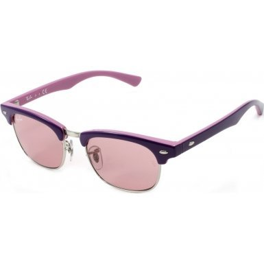 Ray-Ban Junior Kids Sunglasses - RJ9050S Clubmaster / Frame: Top Violet on Pink Lens: Pink Mirror Silver - Purple Ban Frame Ray Sunglasses