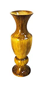 DECORATIVE FLOWER VASE WOODEN