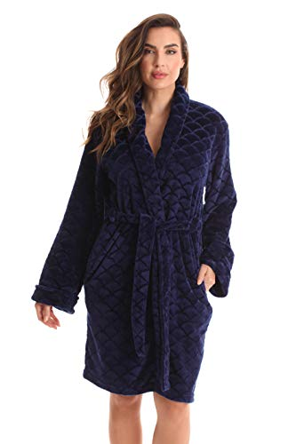 Just Love Kimono Robe Bath Robes for Women 6311-Navy-M