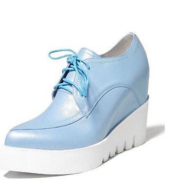 Pu Beige Donna Piatto ggx Primavera Blu Blue Tacchi Nero Da 7 Cn37 Us6 Lvyuan poliuretano 5 Uk4 5 5 Eu37 n8IvqEBAq