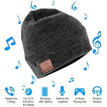 Wireless Bluetooth Beanie Hat Cap with HD Stereo Speaker Headphone Mic Rechargeable USB for Winter Fitness Outdoor Sports Skiing Running Skating Walking