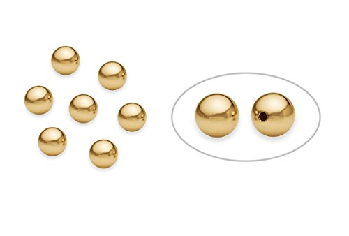 - 20 Pieces 14K Gold Filled Round Smooth Beads 6 mm