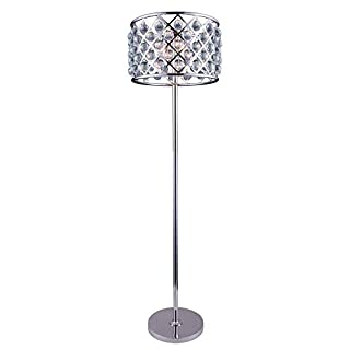Elegant Lighting Madison Collection 1204FL20PN/RC 4-Light Floor Lamp with Royal Cut Crystals, Polished Nickel Finish
