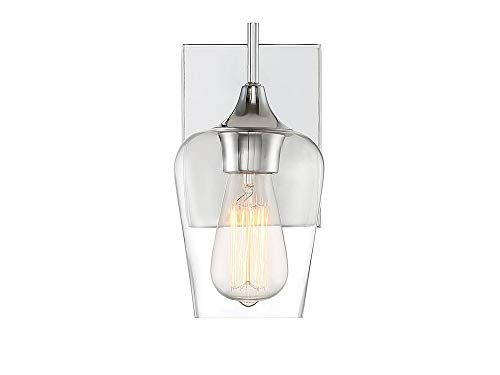 Tall Sconce 9 Wall - Savoy House 9-4030-1-11 Octave Wall Sconce, 1-Light 100 Watts, Polished Chrome