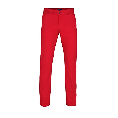Price comparison product image Asquith & Fox Mens Classic Casual Chino Pants / Trousers (38L) (Cherry Red)