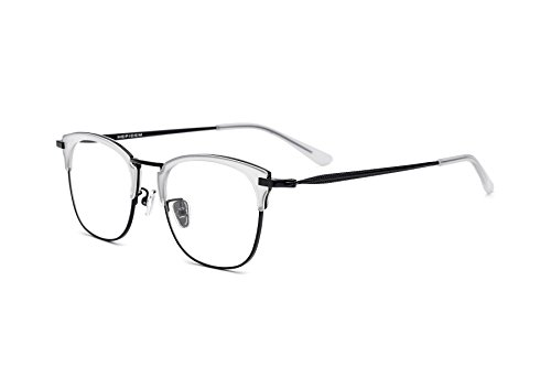HEPIDEM Acetate Women Vintage Myopia Optical Glasses Frame Eyeglasses Spectacles 8002 (Clear - Frames Glasses Decorate