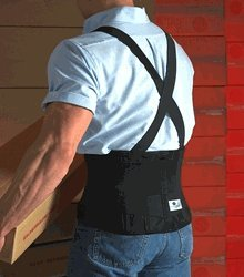 Scott Workforce Silver Low Back Support w/Elastic Suspenders, Black, Reg. by Austin Medical - Specialties Elastic Scott 9