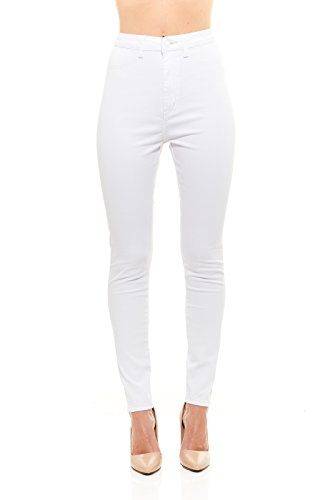 Red Jeans Women's Casual High Rise Stretchy Denim Pants (Red Monkey Jeans)