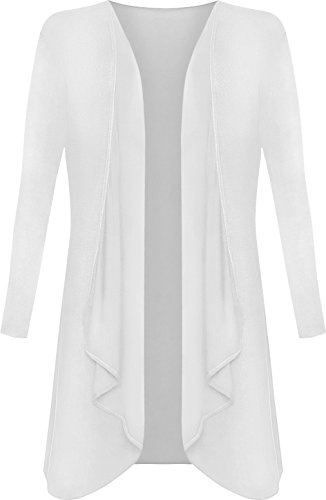 Cardigan 44 Blanc Waterfall Longue Hauts Grande Haut tailles 54 Grandes Femmes Tailles WearAll FITwvxq