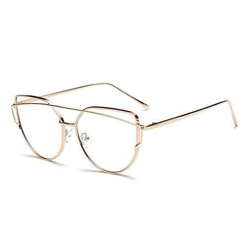 monture neutres Verres lunettes cadre grand Mode clair Verres Delaying bleu métallique à anti Gold lentille sans résistance W4vZ1w0q8